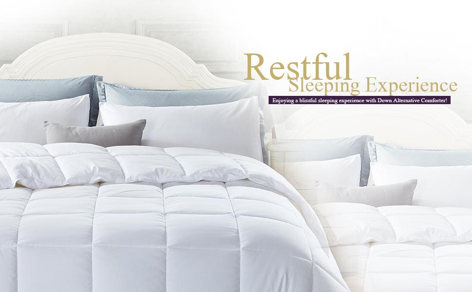 Amazon Com Newlake White Down Alternative Comforter King