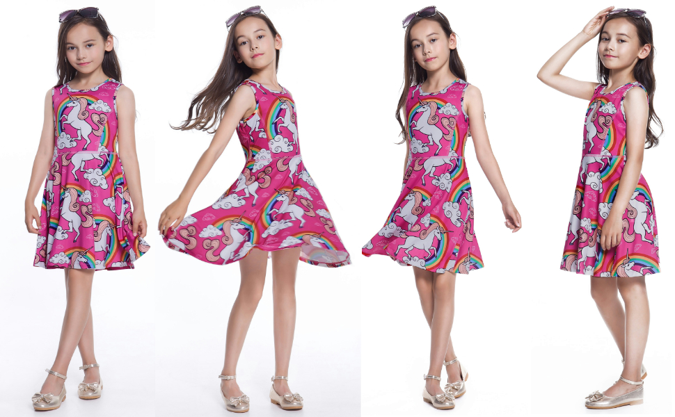 Amazon.com: Jxstar Girls Unicorn Dress,Maxi Dress,Hoodie,Mermaid ...