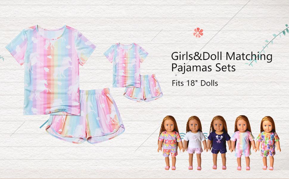 Matching Dolls & Girls Pajamas