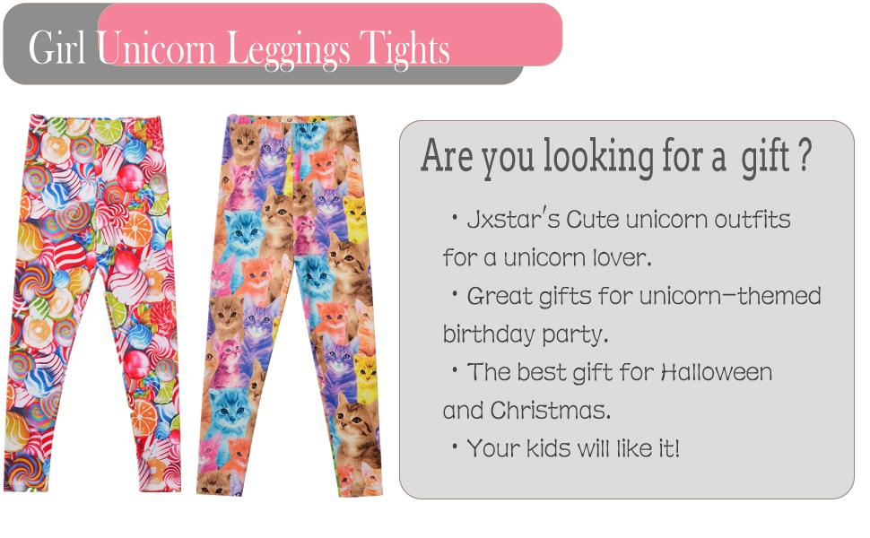 86beb2c8e Amazon.com: Girl Unicorn Leggings Kid Rainbow Print Legging Tights ...