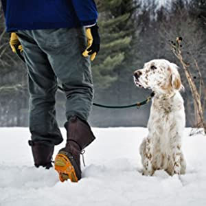 Winter Snow Ice Cleat that Attaches over Shoes/Boots for everyday safety in Winter Outdoor Terrain