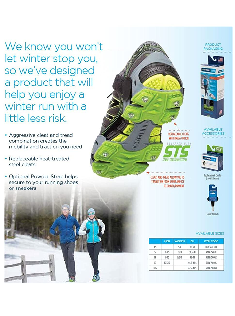 Stabil Icers Ice Cleats Winter Snow And Ice Cleats Made In USA