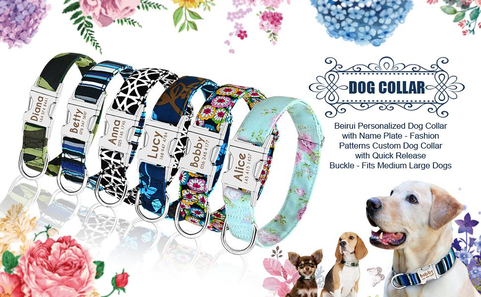 Dog Bandana Play Dogs Pattern Large Medium Small Extra Small Slide on Collar
