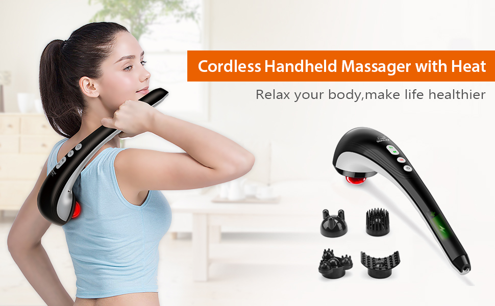 handheld massager with heat
