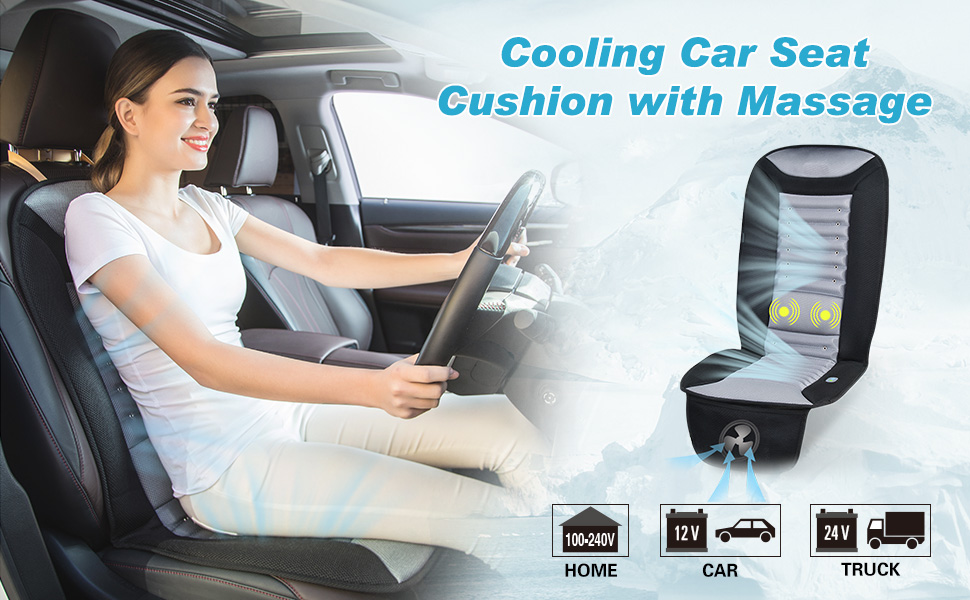 Cooling car seat cushion cooling pad for car truck bus boat SUV office