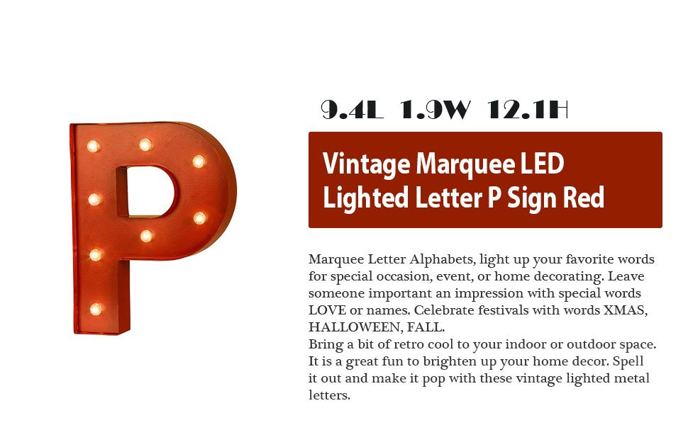 Amazon.com: Glitzhome – Casa con luz LED de Vintage Marquee ...