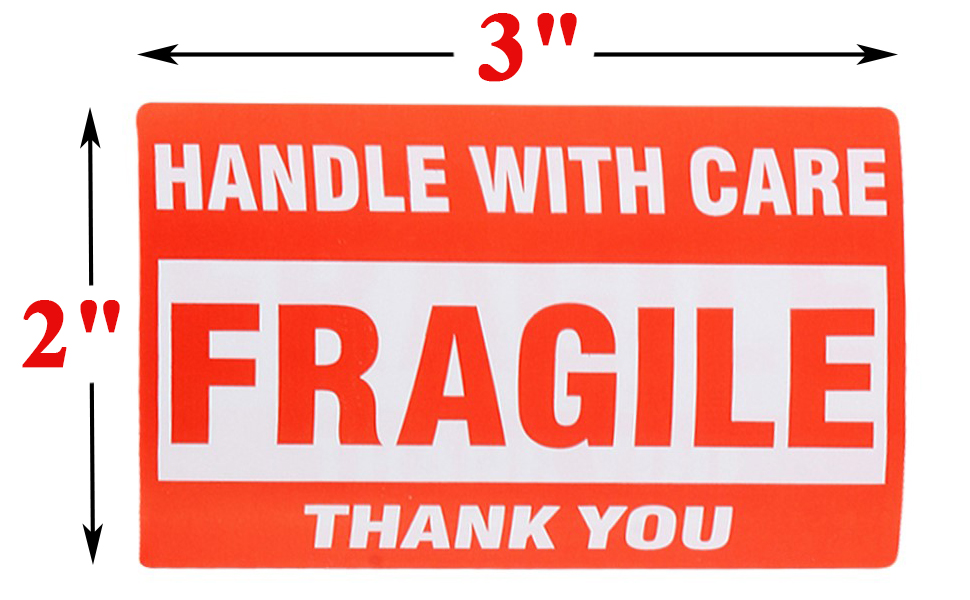 """100//RL, 3/""""x5/"""" FRAGILE Labels Handle Care Warning Shipping Mailing"""