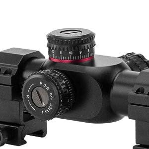 6-24x50-G2 Adjustment dials