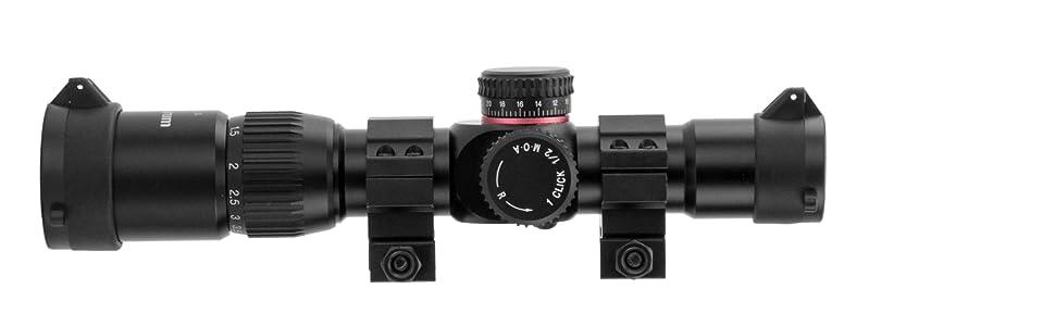 1-4x, monstrum scope, ffp, illuminated reticle