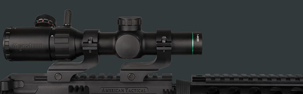 """MONSTRUM TACTICAL SCOPE RINGS 1"""" OFFSET"""