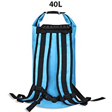 waterproof 40L double strap dry bag