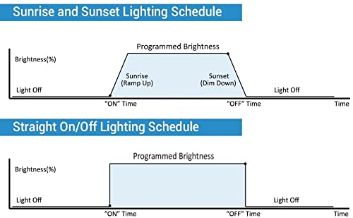 Sunrise/sunset and straight on/off lighting schedules