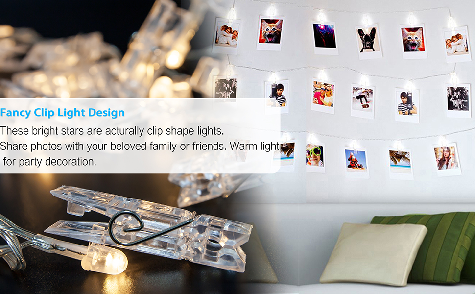 String Lights With Clips Magnificent Amazon Veesee 60 Led Photo Clip String LightsBattery Powered