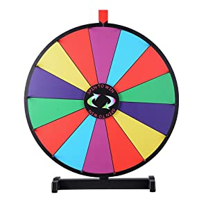 winspin 24 tabletop spinning prize wheel 14 slots with color dry erase trade show. Black Bedroom Furniture Sets. Home Design Ideas