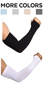 Arm Sleeves with Hand Cove