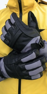 Gray Shredder Snow Glove
