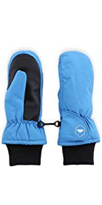 kids blue mittens