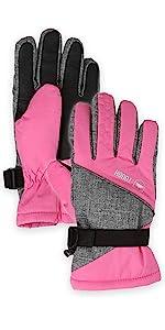pink kids gloves