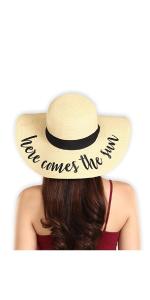 Women's Embroidered Floppy Beach Sun Hat
