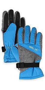 kids blue gloves