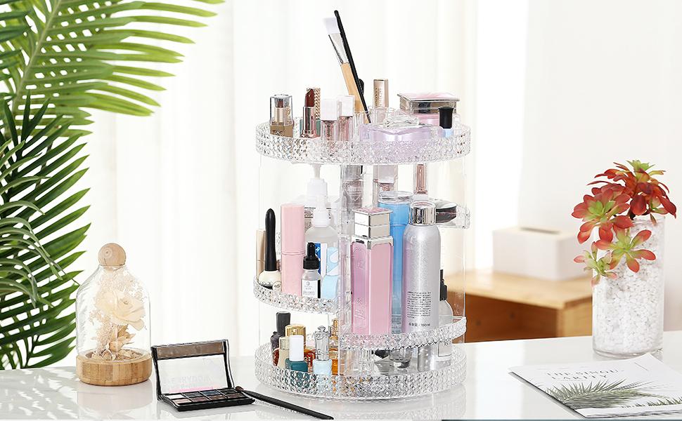 makeup storage 360 degree