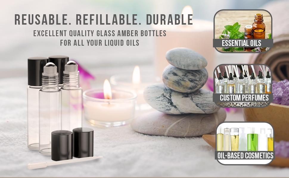 Amazon.com: Botellas de aceite esencial [bola de rodillo de ...