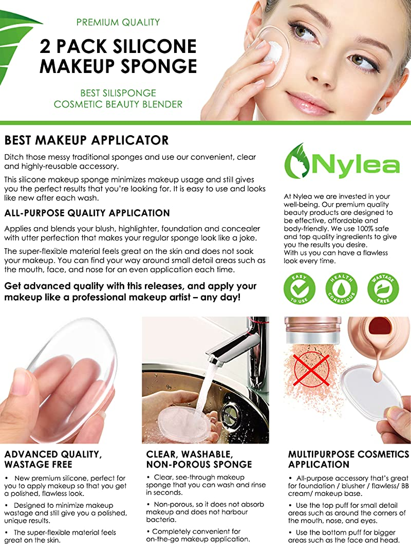 Silicone Makeup Brushes: Amazon.com: 2 Pack Silicone Makeup Sponge [Washable
