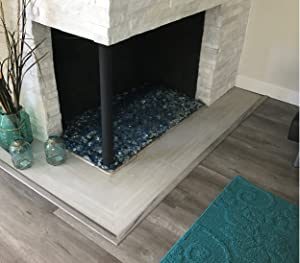 replace the faux logs in your indoor or outdoor gas fireplace with fire glass for a clean attractive ambience or design your new fireplace with fire