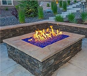 Amazoncom fireglass fire beads fireplace glass and fire for Fire glass calculator