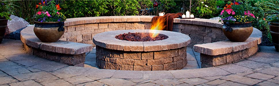 Fire pit essentials 10 pound 3 4 medium for Firerock fireplace cost