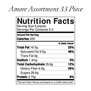 Amore Assortment Nutrition Facts