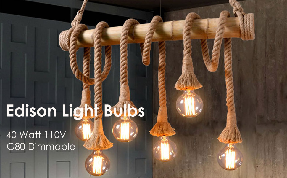 Amazon.com: Bombillas vintage Edison 40 W/110 V E26 E27 base ...