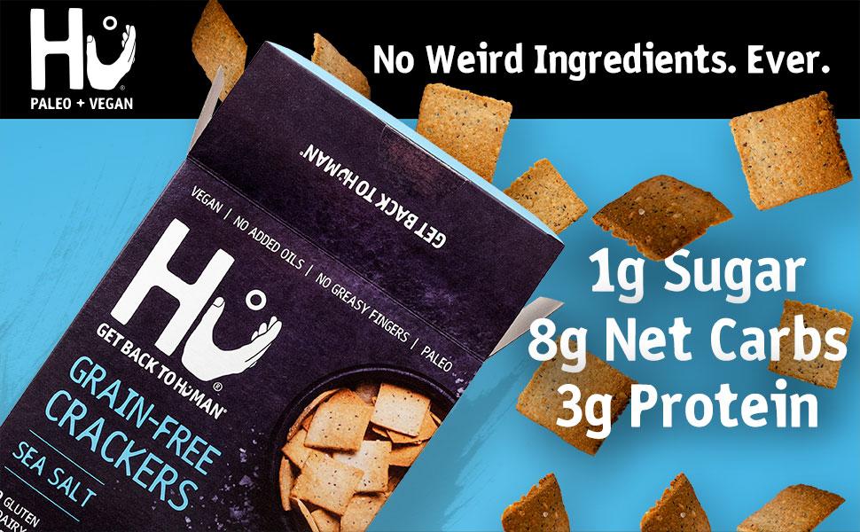 Amazon Com Hu Gluten Free Crackers Sea Salt 2 Pack Keto Friendly Gluten Free Grain Free Low Carb No Added Oils No Refined Starches