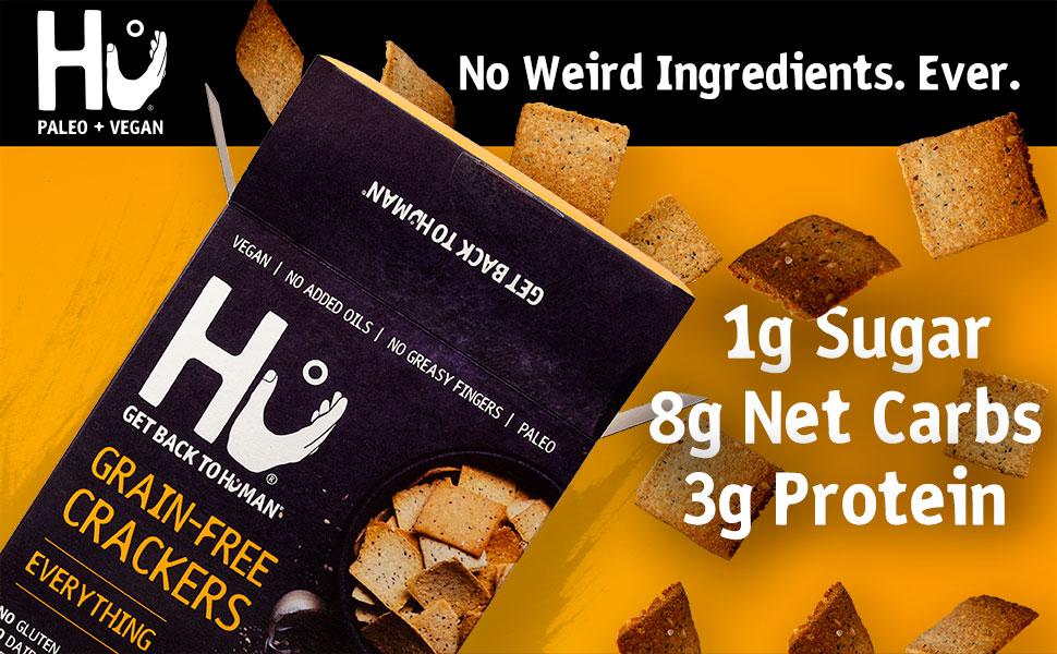 hu everything cracker gluten free vegan snack almond flour cassava coconut dairy free health food