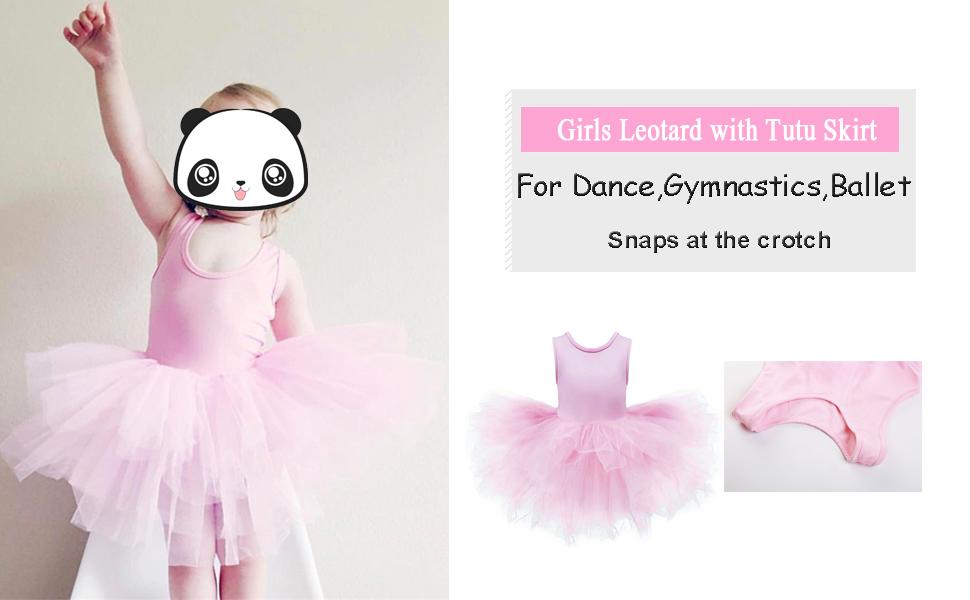 Amazon.com: DHASIUE - Maillot de tutú para niña con falda ...
