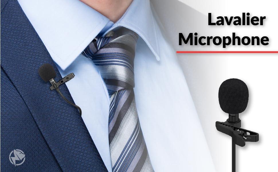 Lavalier Lapel Podcast Iphone Microphone BluQbt Professional High Audio Qualit