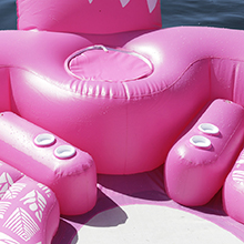 sun pleasure flamingo giant island float cooler