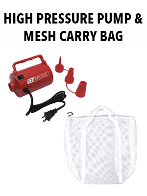 sun pleasure high pressure pump mesh carry bag