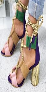 gladiator sandals block high heel