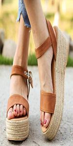 platform wedges sandals flats espadrilles