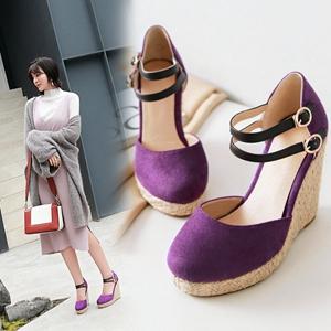 wedge high heel espadrille sandals