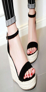 espadrille wedges sandals ankle strap