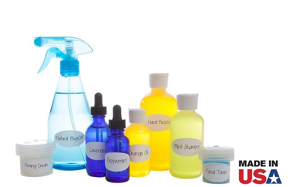 Crinklee Waterproof Essential Oil Labels, 597 Labels, Guarantee, Oil Proof,  Durable, Strong Glue, Fits