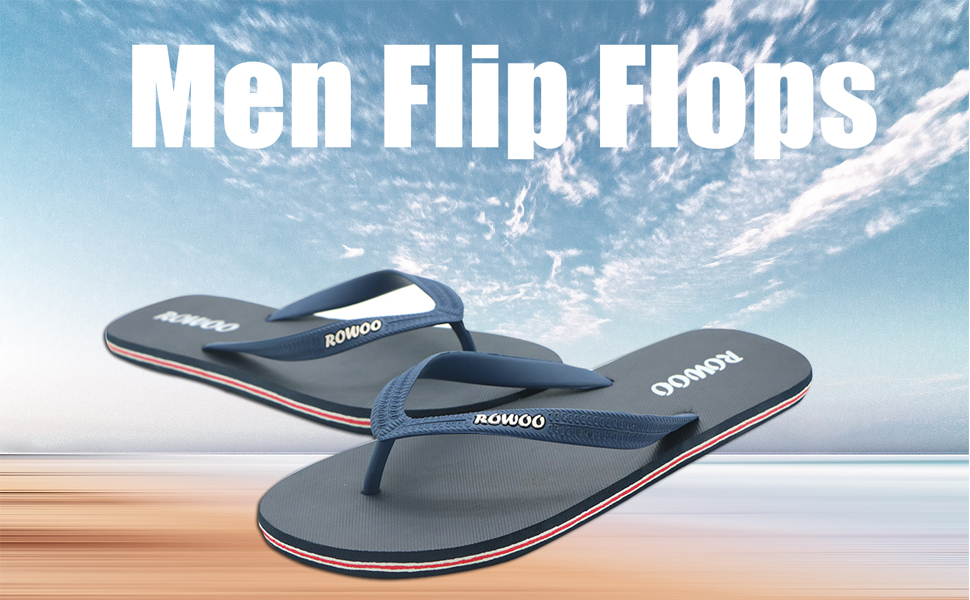 HUIFANGFLIPFIOP Summer Flip Flops Mens Flip-Flops Mens Rubber Beach Shoes Casual Korean Version of The Trend of Youth Sandals and Slippers