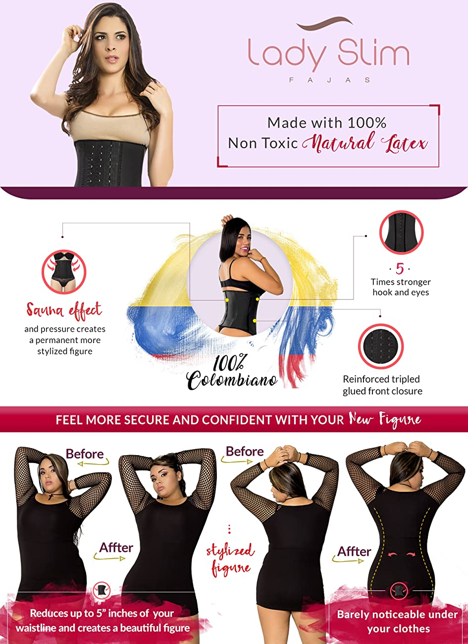 1595715792 The waist cincher waist trainer immediately creates a beautiful curvy  shape. This high compression shapewear smooths the silhouette and instantly  removes up ...