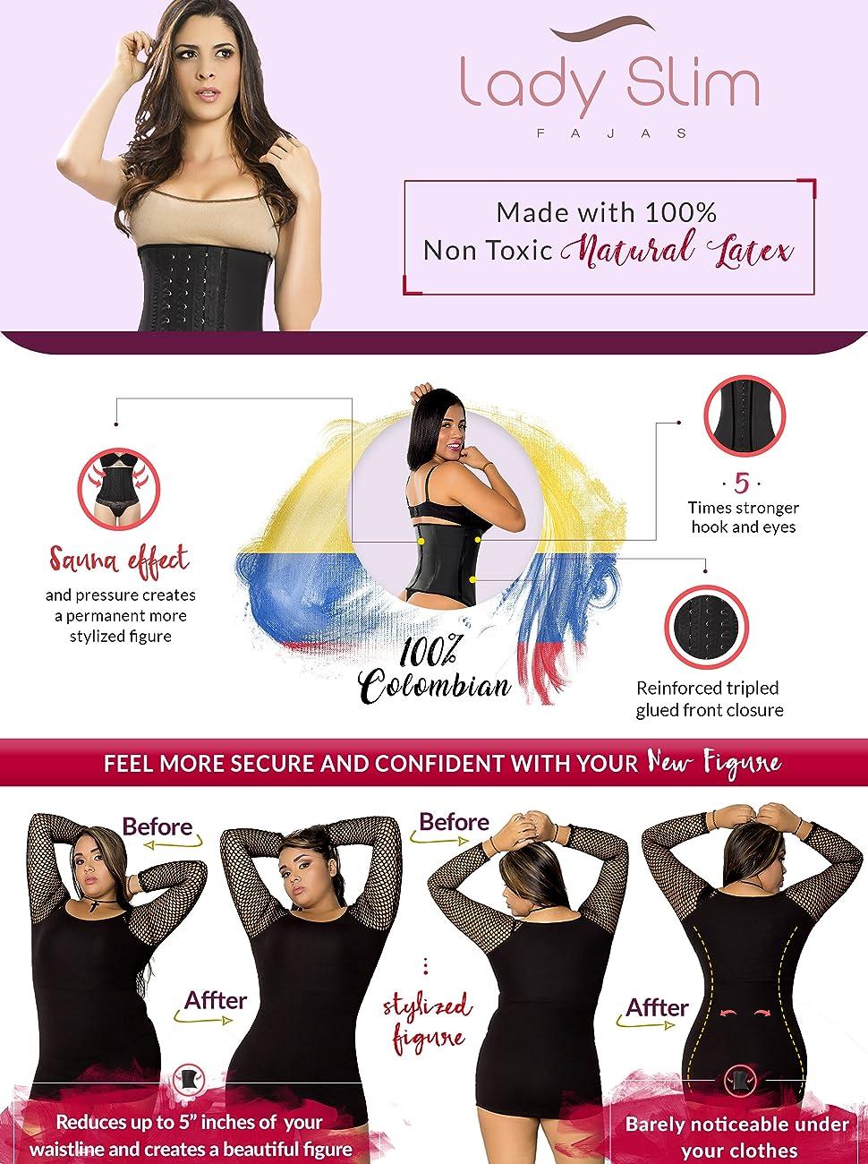Waist chincher trainer corset faja colombiana latex body shaper work out cinturilla wight loss