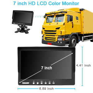 Waterproof 24V 32FT Video Cable Night Vision DC 12V E-KYLIN Truck Front View Forward Camera for Lorry Pickup Bus Vehicle Van Camper Car CCD HD Non-Mirror Image w//o Parking Assistance Lines