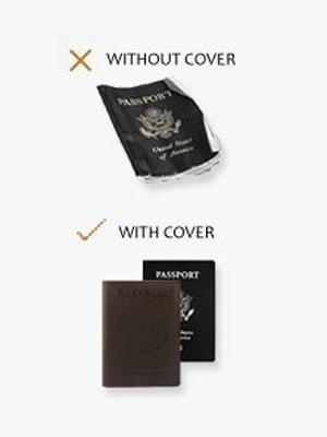 9979a2141c68 SwissElite Genuine Leather Passport Cover Holder For Men & Women in 6 Colors