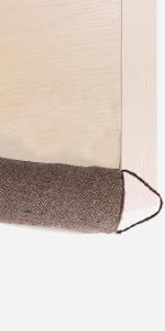 Under Door Noisy Blocker Soundproof and Odour Absorber Beige Weighted Heavy Duty Door Guard for Weather Stripping,Air Blocker HanYun Door Draft Stopper with Activated Bamboo Charcoal 36