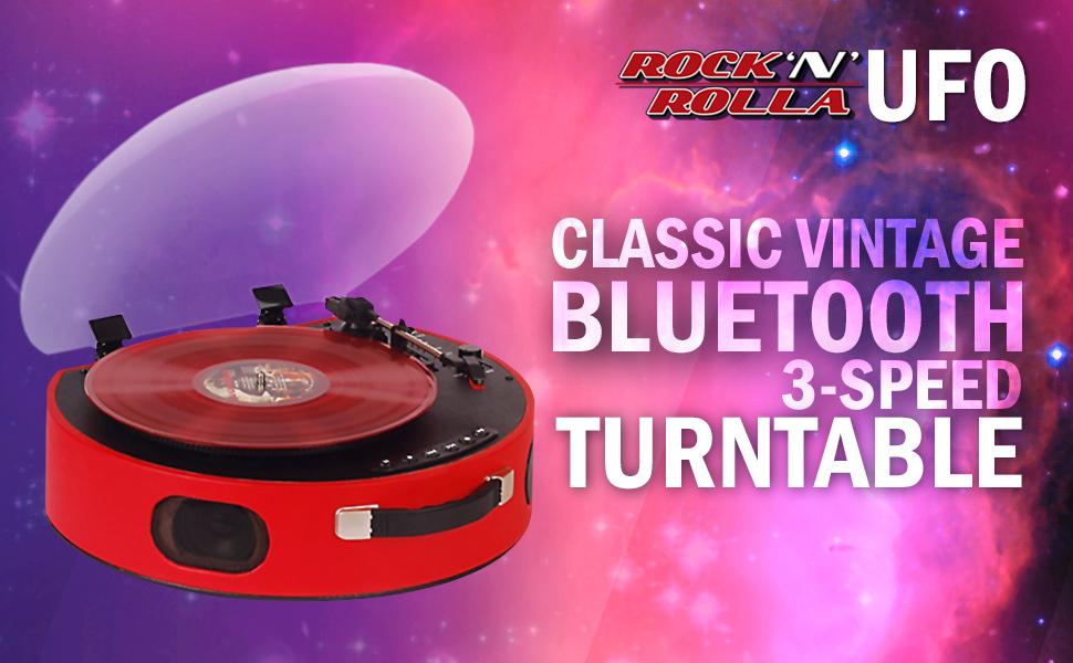 Amazon.com: Rock n Rolla UFO Tocadiscos portátil con batería ...